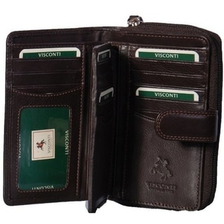 Visconti Heritage-33 Ladies Multi Soft Leather Card Holder Wallet and Purse