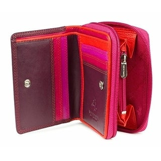 Visconti RB53 Multi Colored Ladies Leather Small Bifold Wallet & Purse Gift Box