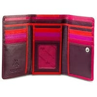 Visconti RB43 Multi Colored Large Trifold Soft Leather Ladies Wallet & Purse