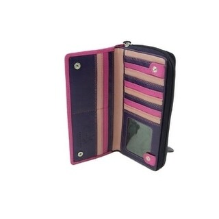 Visconti RB 55 Multi Colored Ladies Soft Leather Checkbook Wallet