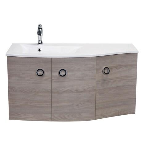 "Eviva Romania 42"" Grey Oak Bathroom Vanity"