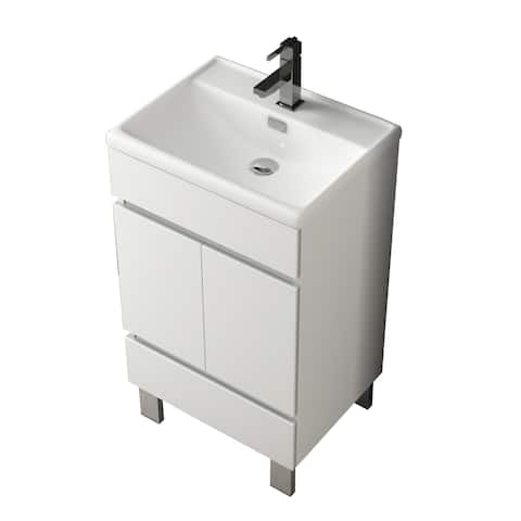 Eviva Piscis 20? White Vanity with Integrated Sink