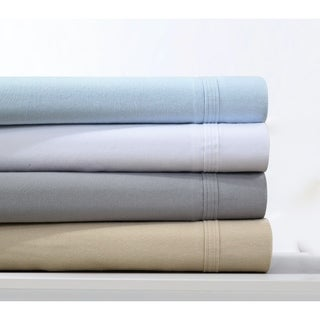 Heavyweight 220-GSM Solid Flannel Extra Deep Pocket Sheet Set