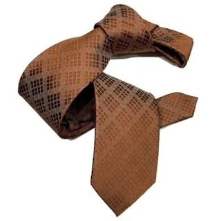 Dmitry Men's Copper Patterned Italian Silk Tie