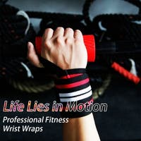Wrist Wraps Weight Lifting Gym Training Wrist Support - Black