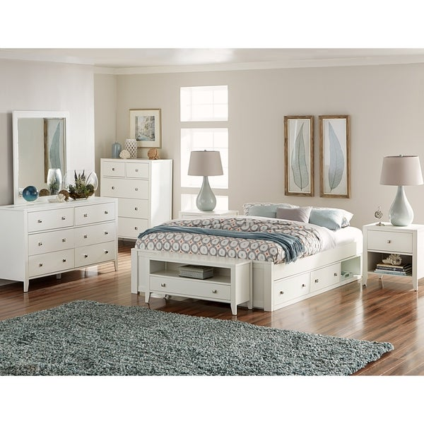 Hilale Pulse King Platform Bed With Storage White