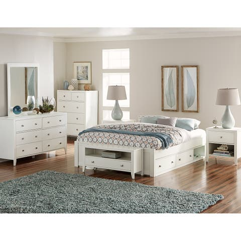 Hillsdale Pulse King Platform Bed with Storage , White