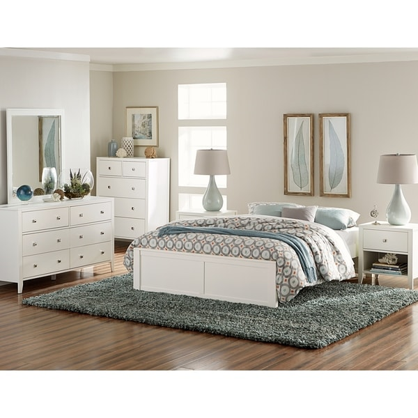 Hillsdale Pulse Queen Platform Bed, White