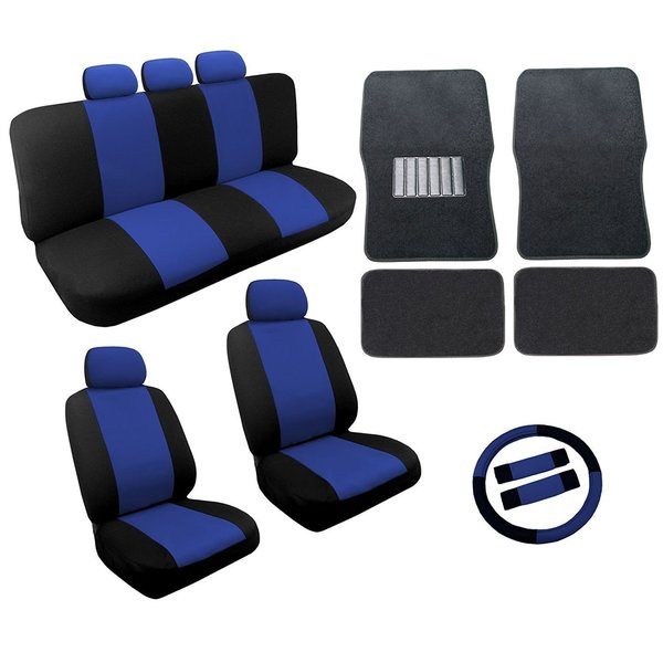 Shop BlueBlack Two Tone Car Seat Covers Black Mats Set Pc For - Acura tl seat covers
