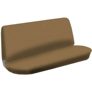 Bench Seat Cover Flat Solid Tan Beige 2pc Cloth For Hyundai Sonata