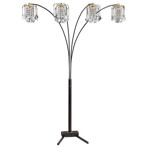 Shop q max black modern arms arch faux crystal floor lamp 84 h on q max black modern arms arch faux crystal floor lamp 84 h aloadofball Gallery
