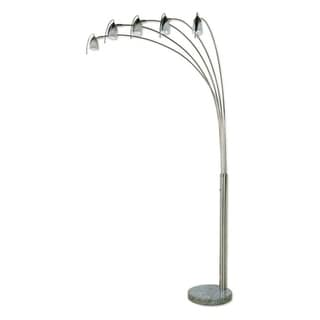 Q-Max 5-Arm Adjustable Arch Floor Lamp with Marble Base