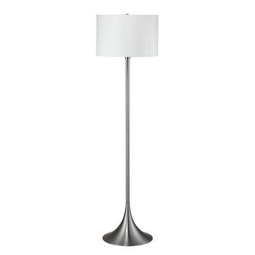 """Q-Max Brushed Steel 62""""H Floor Lamp"""