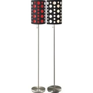 """Q-Max 62""""H Retro Dual Shade Floor Lamp"""