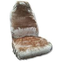 Synthetic Sheepskin Seat Cover Plush Fleece Single Back Tan Fits Dodge