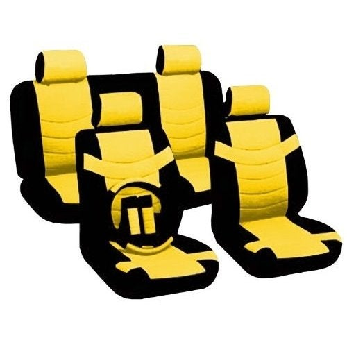 Shop Leather Black Yellow Seat Covers Headrests Steering Subaru