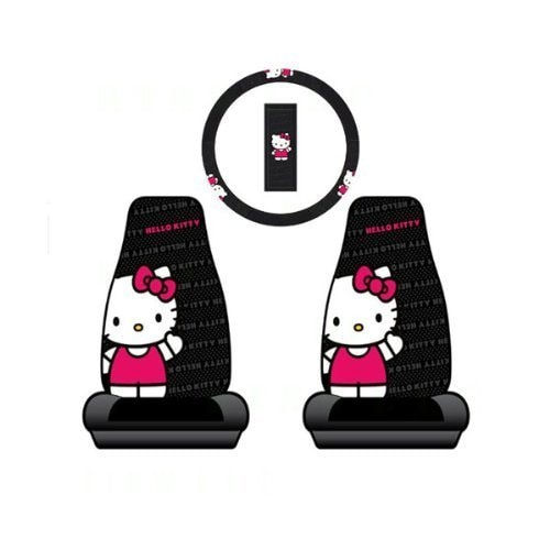 Unique Industries Hello Kitty 2 Car Seat Cover + Steering...