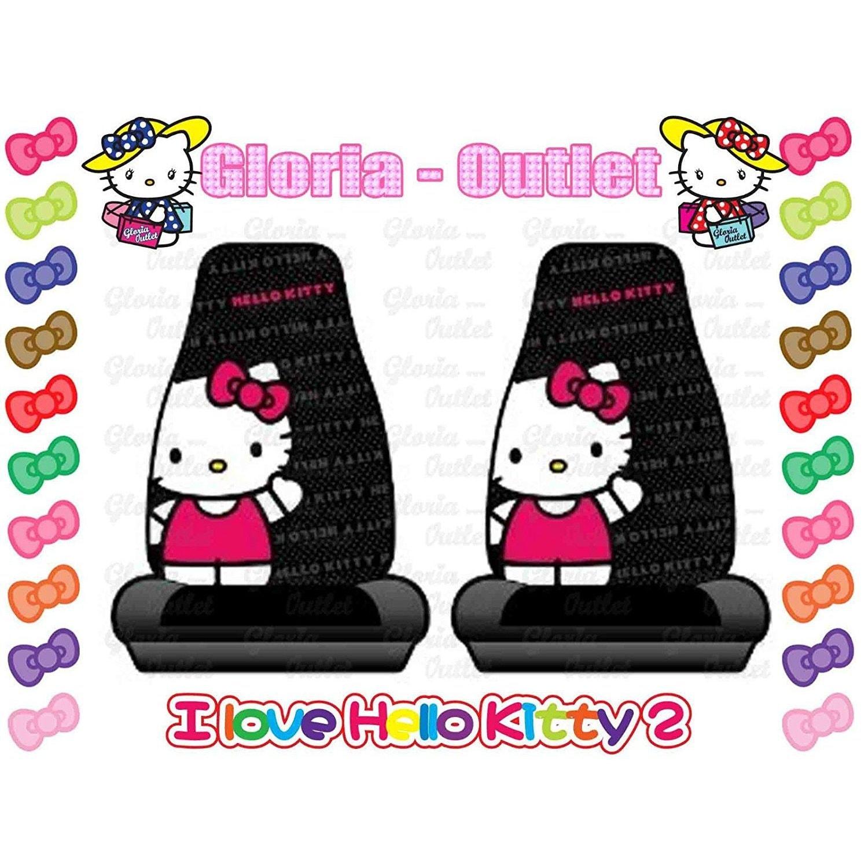 Unique Industries Hello Kitty Sanrio 2 Car Seat Cover Rib...