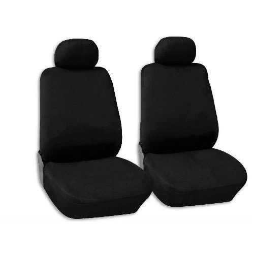 Shop Black Polyester Front Bucket Seat Covers Pair Low Back Acura - 98 acura rl for sale