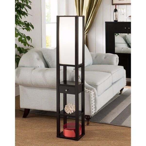 Spacious Modern Style Lamp, Dark Brown