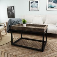 Homer Rustic Rectangle Wood Coffee Table by Christopher Knight Home