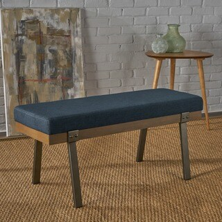 Izan Modern Rectangle Fabric Ottoman Bench by Christopher Knight Home
