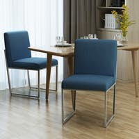 Delma Modern Fabric Dining Chair by Christopher Knight Home