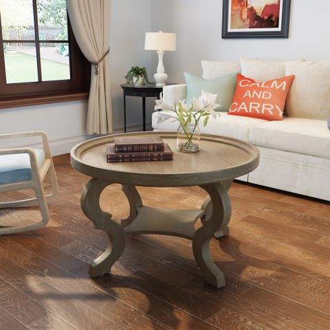 Althea Round Wood Coffee Table by Christopher Knight Home