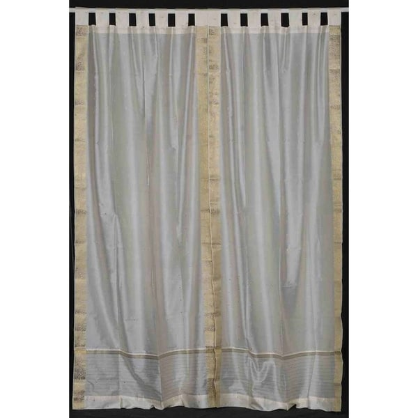 Shop Cream Tab Top Sheer Sari Curtain Drape Panel