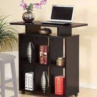 Elegant Standing Desk With 7 Open Shelves.