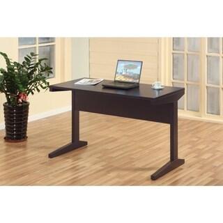 Well-designed All Around Dark Brown Finish Desk.
