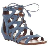 Women's Madeline Saturate Gladiator Sandal Blue Textile