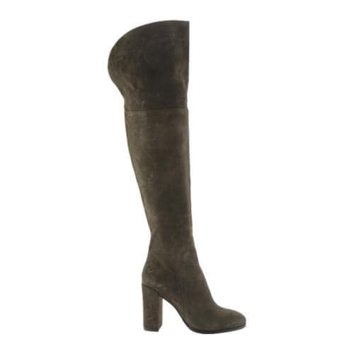 Women's Kenneth Cole New York Jack Over-the-Knee Boot Olive Suede - Thumbnail 1