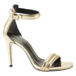 Women's Kenneth Cole New York Brooke Two Piece Sandal Gold Leather