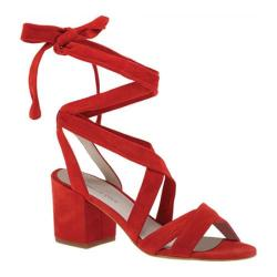 Women's Kenneth Cole New York Victoria Ankle-Tie Sandal Red Suede