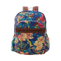Women's Sakroots Artist Circle Classic Backpack Royal Flower Power