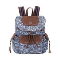 Women's Sakroots Artist Circle Flap Backpack Navy Spirit Desert