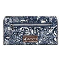 Women's Sakroots Artist Circle Slim Wallet Navy Spirit Desert