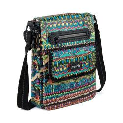 Women's Sakroots Artist Circle Small Flap Messenger Bag Radiant One World