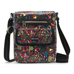 Women's Sakroots Artist Circle Small Flap Messenger Bag Rainbow Spirit Desert