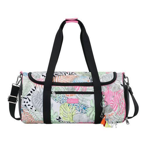 5e1467d023f2 Shop Women s Sakroots Kota Stadium Gym Duffel Neon Wildlife Matte Black -  Free Shipping Today - Overstock - 16285609