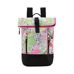 Women's Sakroots Kota Vista Rolltop Backpack Neon Wildlife/Antique Silvertone