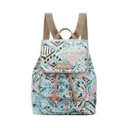 Women's Sakroots Metro Mini Flap Backpack Turq Brave Beauti/Antique Brasstone