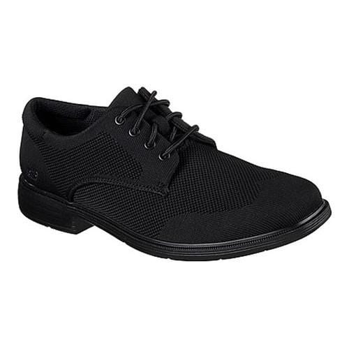 Men's Skechers Caswell Aleno Oxford Black/Black - Thumbnail 0