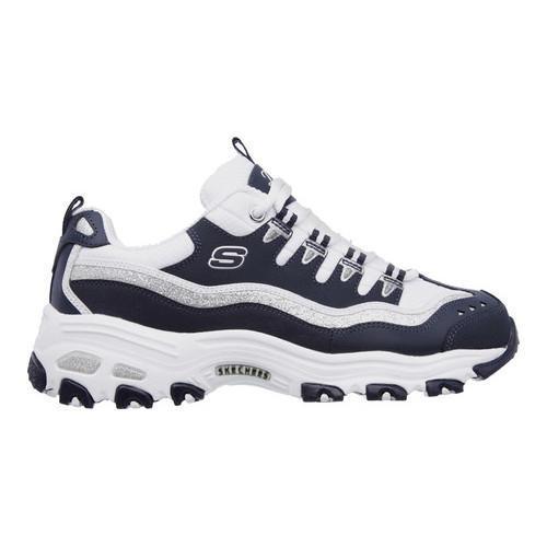 Women's Skechers D'Lites New Retro Sneaker Navy/White - Thumbnail 1