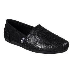 Women's Skechers BOBS Plush Friday Night Alpargata Black/Black
