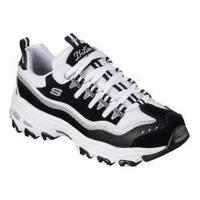 Women's Skechers D'Lites New Retro Sneaker Black/White