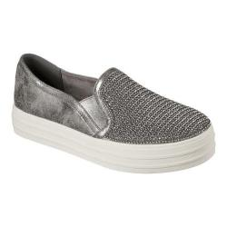 Women's Skechers OG 97 Double Up Shiny Dancer Slip On Sneaker Pewter