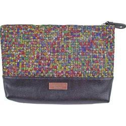 Women's Bernie Mev BM10 Large Cosmetic Bag Dazzle/Black Faux Leather