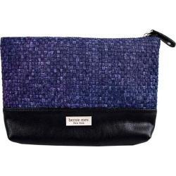Women's Bernie Mev BM10 Large Cosmetic Bag Jeans/Black Faux Leather